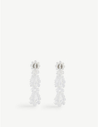 SIMONE ROCHA: Drip sterling silver and glass earrings