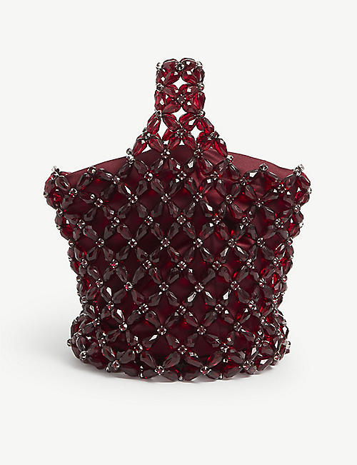 SIMONE ROCHA: Floral beaded hobo bag
