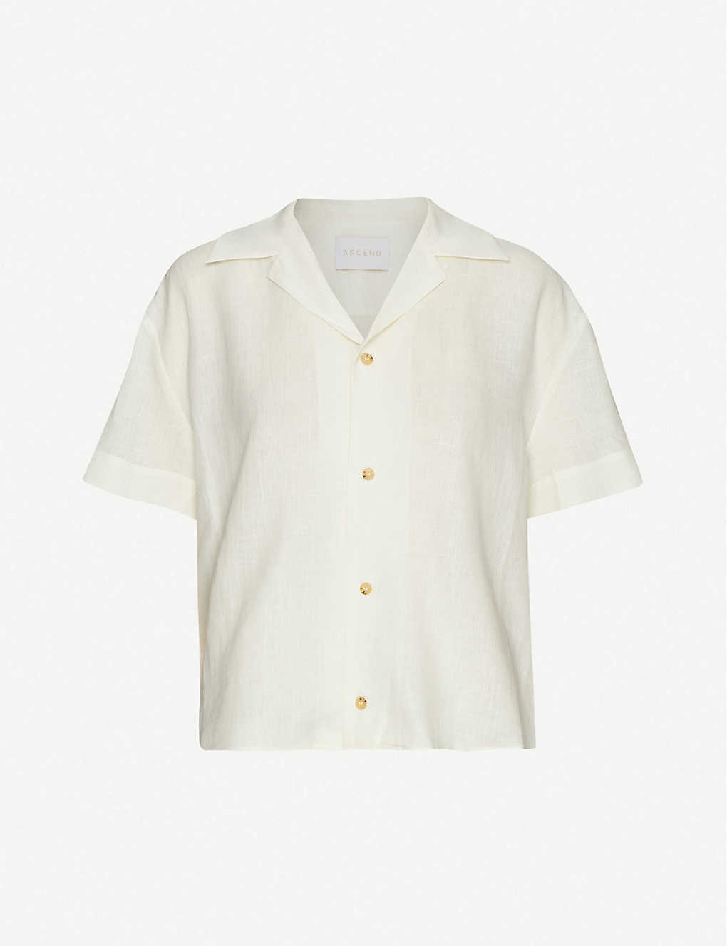 ASCENO: The Prague relaxed-fit organic linen shirt