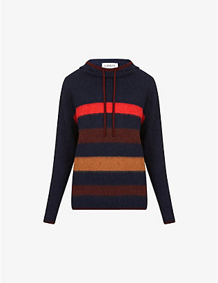 LANVIN: Striped wool hoody