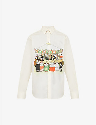 LANVIN: Graphic-print cotton shirt