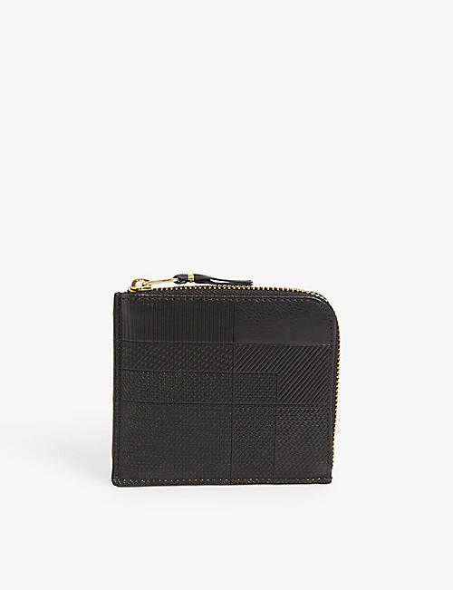 COMME DES GARCONS: Textured leather note wallet