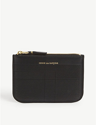COMME DES GARCONS: Embossed leather coin purse