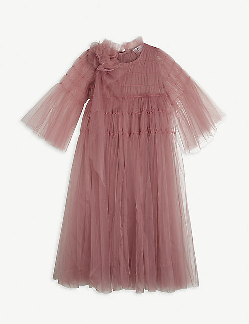 RASPBERRY PLUM: Kizzy flower tulle dress 3 -14 years