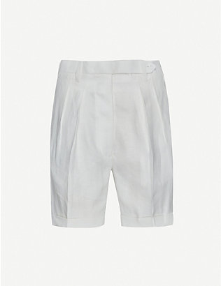 GIULIVA HERITAGE: Husband high-rise linen shorts