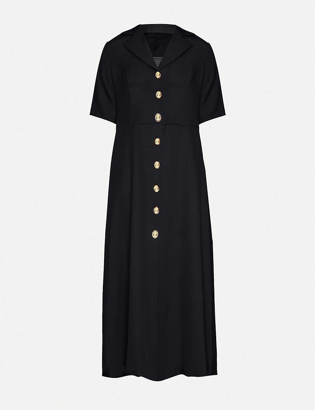 GIULIVA HERITAGE: Giulia buttoned silk midi dress