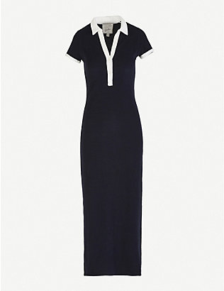 GIULIVA HERITAGE: Daphne contrast-trim cotton maxi dress