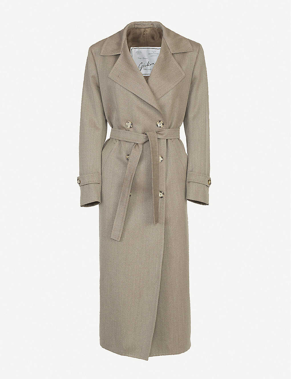 GIULIVA HERITAGE: Christie double-breasted wool-twill trench coat