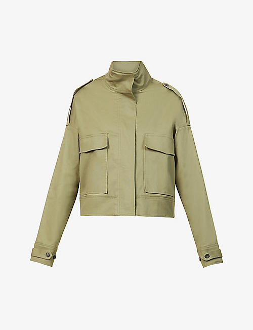 THE RANGE: Structured Military boxy-fit stretch-cotton jacket