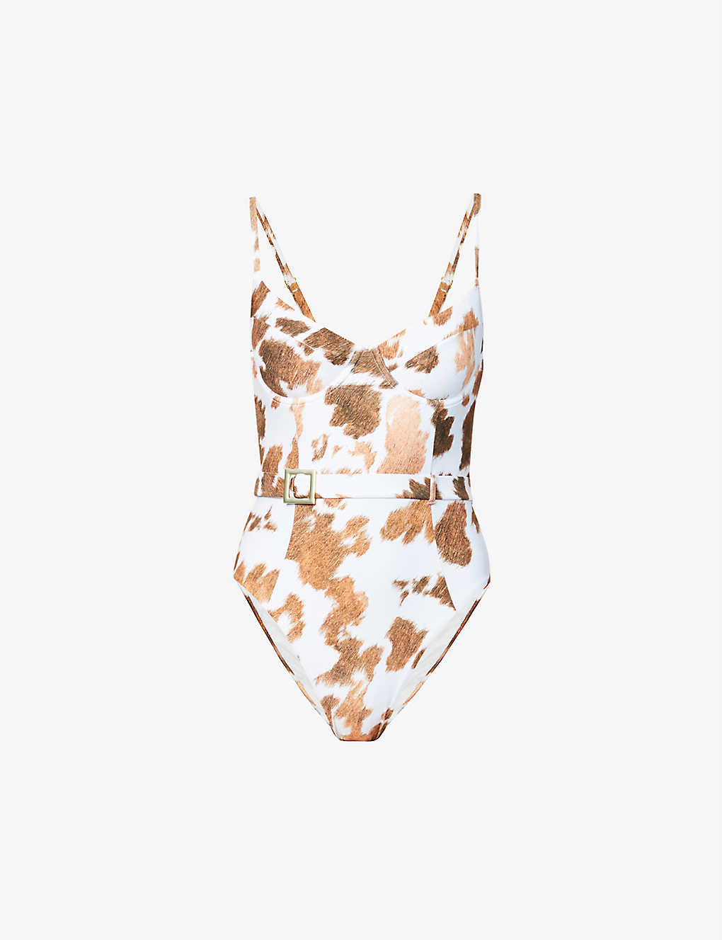WEWOREWHAT: Onia x WeWoreWhat Danielle abstract-print swimsuit