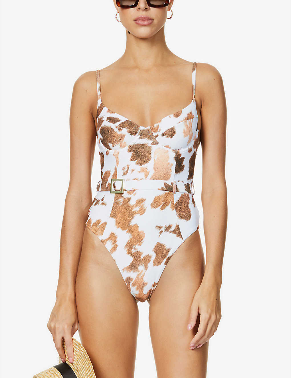 Underwire Cow Print Swimsuit