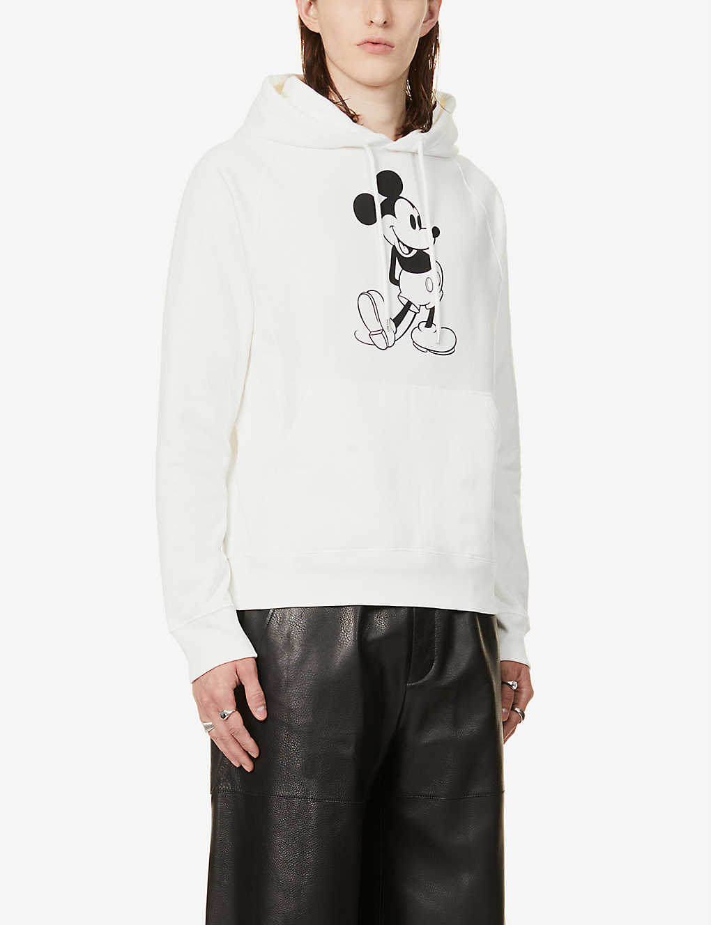 THE SOLOIST: Mickey Mouse graphic-print cotton-jersey hoody