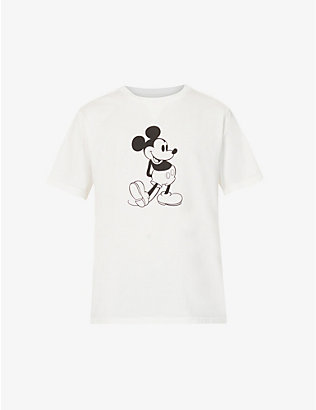 THE SOLOIST: Mickey Mouse graphic-print cotton-jersey T-shirt
