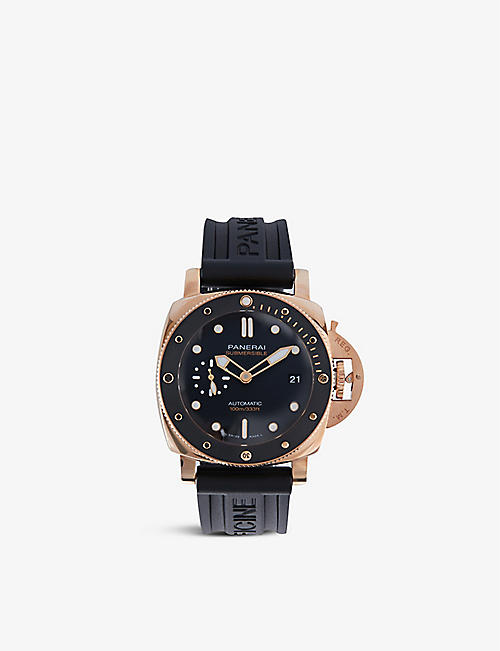 PANERAI: PAM00974 Submersible Goldtech™ and rubber automatic watch
