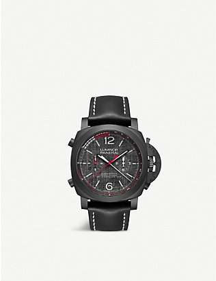 PANERAI: PAM01038 Luminor Luna Rossa Regatta CARBOTECH™ and leather watch