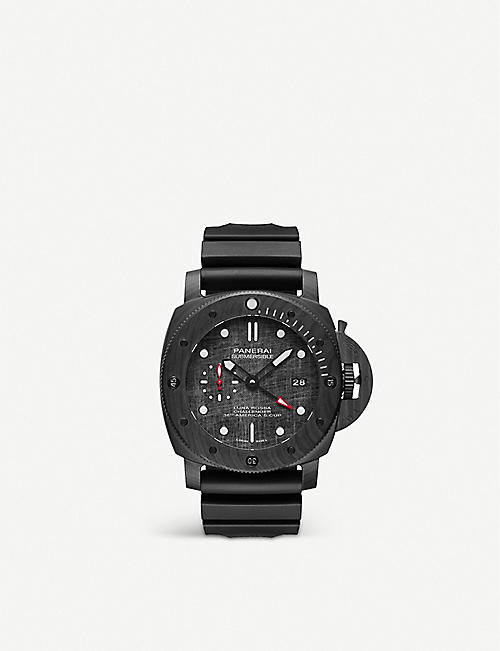 PANERAI: PAM01039 Submersible Luna Rossa CARBOTECH™ and rubber watch