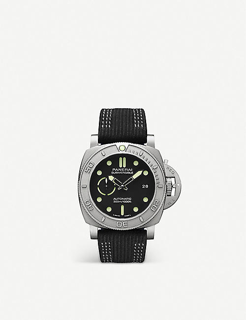 PANERAI: PAM00984 Submersible Mike Horn EcoTitanium&trade; or <sup>TM</sup> and fabric watch
