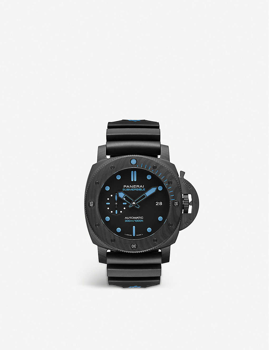 PANERAI: PAM01616 Submersible CARBOTECH™ and rubber watch