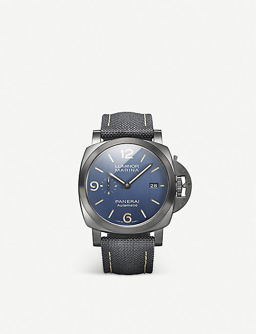 PANERAI: Luminor Marina titanium and textile watch