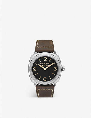 PANERAI: PAM00685 Radiomir 3 Days Acciaio stainless-steel and leather hand-wound mechanical watch