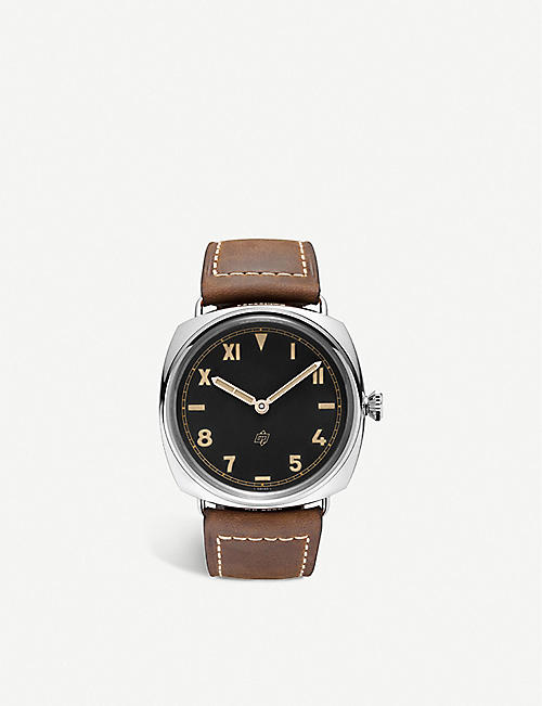 PANERAI: PAM00424 Radiomir California stainless-steel and leather watch