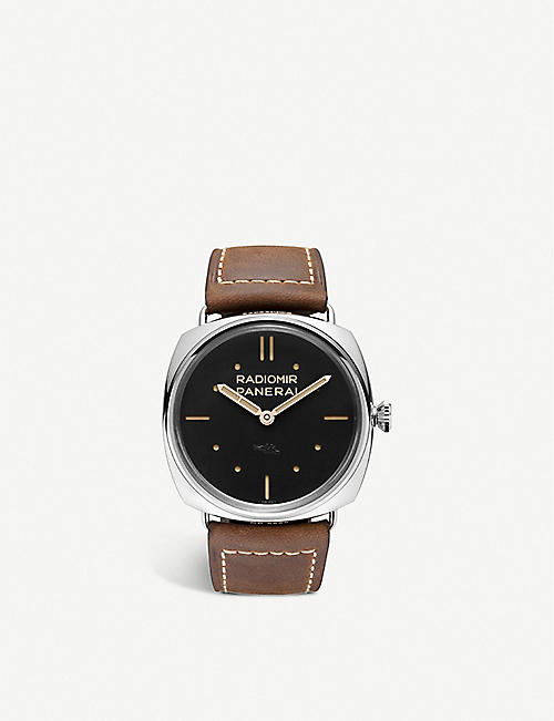 PANERAI: PAM00425 Radiomir S.L.C stainless-steel and leather watch