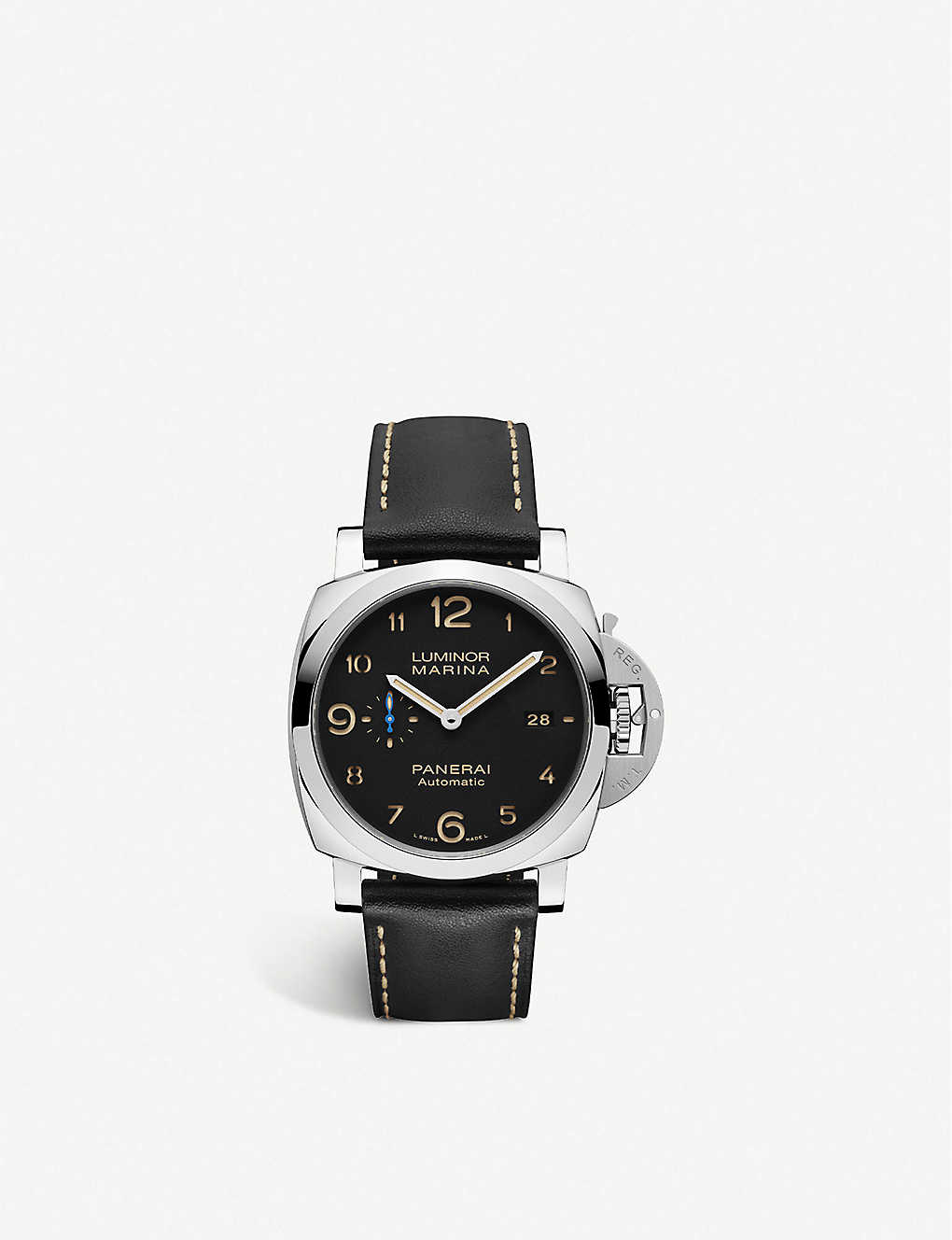 PANERAI: PAM01359 Luminor Marina leather and stainless steel automatic watch