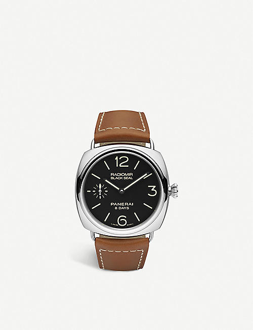 PANERAI: PAM00609 Radiomir Black Seal 8 Days polished steel watch