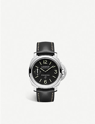 PANERAI: PAM00776 Luminor Logo polished steel watch