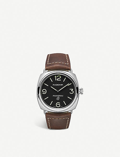 PANERAI: PAM00753 Radiomir Base Logo polished steel watch