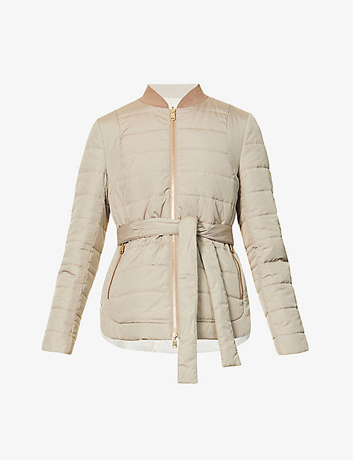 BRUNELLO CUCINELLI: Belted quilted shell jacket