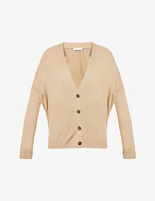 BRUNELLO CUCINELLI: V-neck wool and cashmere-blend cardigan