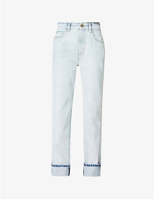 BRUNELLO CUCINELLI: Faded straight mid-rise jeans