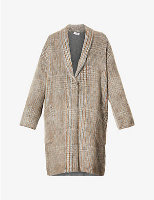 BRUNELLO CUCINELLI: Checked woven coat