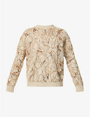 BRUNELLO CUCINELLI: Sequin-embellished mohair-blend jumper