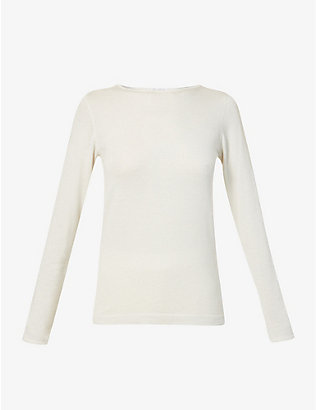 BRUNELLO CUCINELLI: Metallic cashmere-blend top