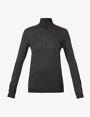 BRUNELLO CUCINELLI: Turtle-neck cashmere-blend top