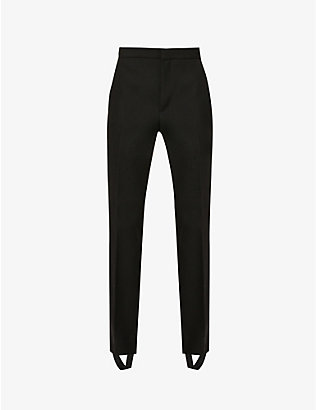 WARDROBE.NYC: Tapered high-rise wool and silk tuxedo trousers