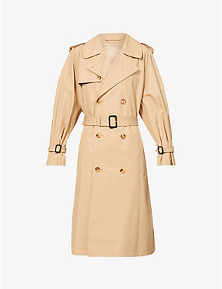 WARDROBE.NYC: Double-breasted cotton trench coat