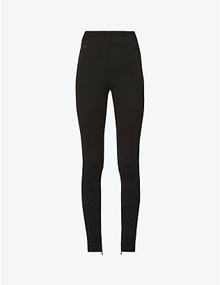 WARDROBE.NYC: Tapered high-rise stretch-woven leggings