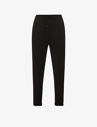 WARDROBE.NYC: High-rise cotton-jersey jogging bottoms