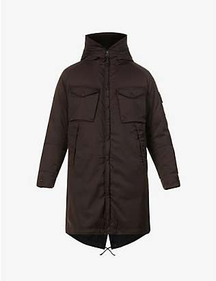 STONE ISLAND: Ghost Badge wool-blend coat
