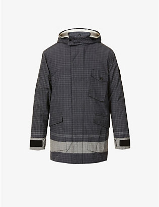 STONE ISLAND: Reflective detachable-hood shell-down jacket