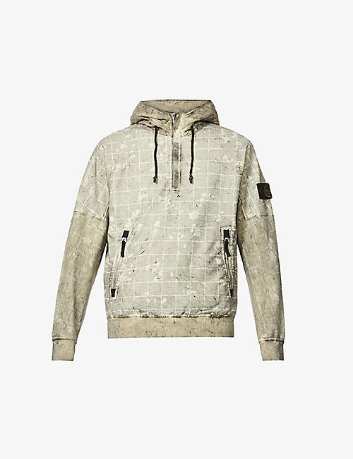 STONE ISLAND: Dust Laser graphic-print stretch-cotton hoody