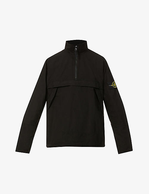 STONE ISLAND: Logo-print cotton jacket