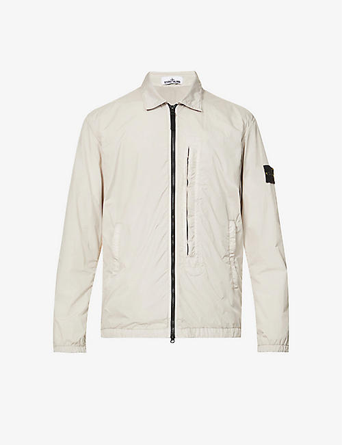 STONE ISLAND: Hooded shell jacket