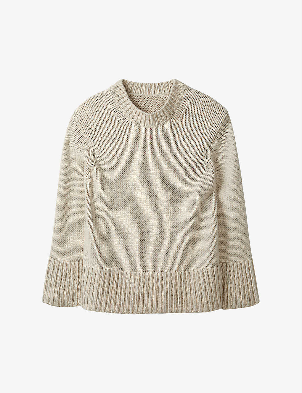 THE WHITE COMPANY: Scoop-neck wool-blend jumper