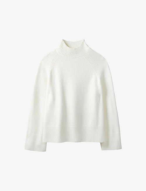 THE WHITE COMPANY: Funnel-neck wool and cashmere-blend jumper