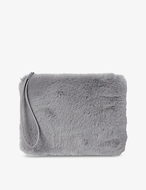 THE WHITE COMPANY: Faux-fur clutch bag