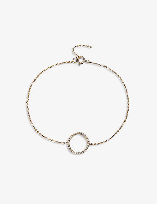 THE WHITE COMPANY: Crystal-embellished gold-plated sterling silver bracelet